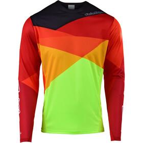 Troy Lee Designs Sprint Miehet Pyöräilypaita pitkähihainen , keltainen/punainen